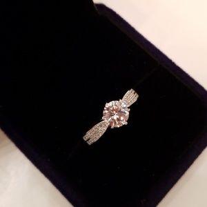 18K Engagement Wedding Ring